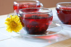3 cups of fruit/herb teas Royalty Free Stock Photography