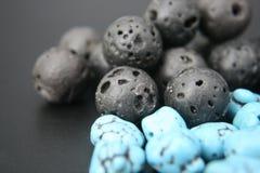3 czarny błękit Zdjęcie Stock
