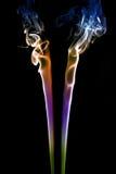 3 czarny barwiony dym Fotografia Stock