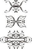 3 czerń tatuażowy wektor Obrazy Stock