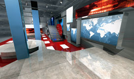 3 d新闻设置了侧视图虚拟 向量例证