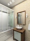 3 d łazienki wewnętrznego nowoczesnego się