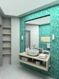 3 d łazienki wewnętrznego nowoczesnego się ilustracja wektor