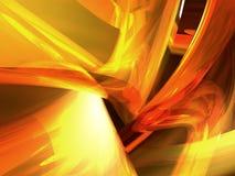 3 d abstrakta żółty Obrazy Stock