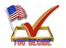 3 d amerykanina pudełka na głosowanie flagę ilustracja wektor
