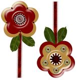 3-D artistic flowers Royalty Free Stock Images