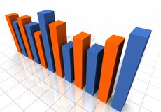 3-D Business Bar Graph stock photo