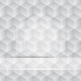 3 D cube pattern. Black and white cube pattern background Stock Photos