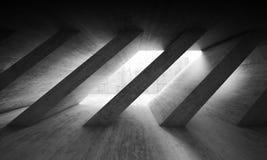 Free 3 D Dark Concrete Interior With Diagonal Columns Stock Images - 82235454