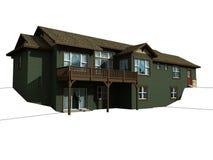 3 d domów poziomu 2 modelu Obraz Stock