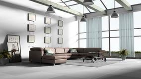 3 d domów wewnętrznego utylizacji Obraz Stock