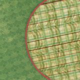 3-D Duffel Plaid Abstract. Green and plaid duffel abstract fabric background Stock Photo