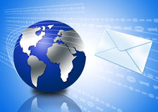 3 d e - mail koperty kulę Obrazy Stock