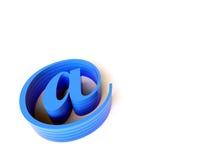3 d e - mail niebieskiego znaku Fotografia Royalty Free