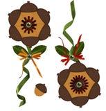 3-D Eichel-Blumen-Lutschbonbon Stockbild