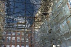 3 D förtjänar scaffolden Royaltyfria Bilder