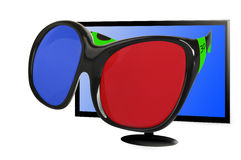 3 d glasses Royalty Free Stock Photos