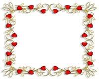 3 d granice ramy serc walentynki Obraz Royalty Free