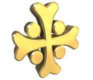 3 d krzyża armenian złoto Fotografia Stock