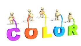3 d list farby plomby lalki ilustracji