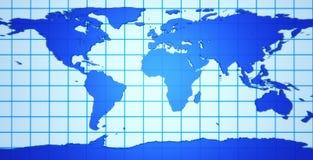 3 d mapę ziemi Zdjęcie Royalty Free