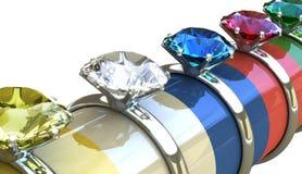 3 d pierścionek z diamentem