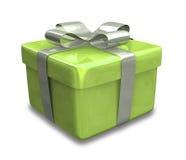 3 d prezent złota green opakowane ilustracja wektor