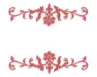 3 d projektu różowy ornamentacyjne granice Zdjęcia Stock