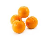 3 d que modelam com laranjas Imagens de Stock