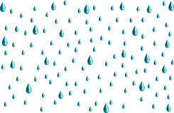 3-D Raindrops Stock Photo
