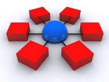 3 d sieci ilustracja wektor