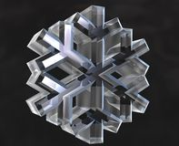 3 d snowfiake symboli royalty ilustracja