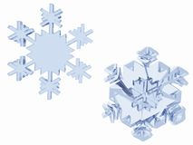 3-D snowflakes Royalty Free Stock Photography