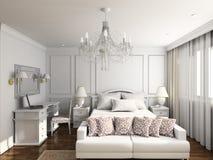 3 d sypialni wewnętrznego nowoczesnego się Zdjęcie Royalty Free