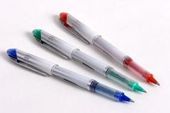 3 długopisy tricolor Zdjęcie Royalty Free