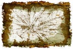 3-D Veiny Grunge Borders. Veining leaf inside grunge style frame Royalty Free Stock Photos