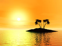 3 d wyspę. Obrazy Royalty Free