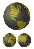 3 d ziemskich kul map stylizowany wektora royalty ilustracja