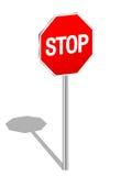 3 d znak stop Zdjęcia Stock
