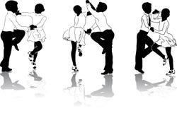 3 danseurs jeunes Images libres de droits