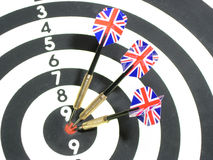 3 darts. With england flag Royalty Free Stock Photography
