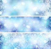 3 de banners van Kerstmis Royalty-vrije Stock Fotografie