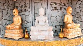 3 de beelden van Boedha in Phnom Penh, Kambodja Royalty-vrije Stock Foto