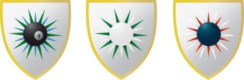 3 de Emblemen van de sport Stock Afbeeldingen