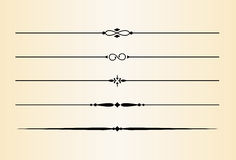 3 dekorativa avdelare för brytningar vektor illustrationer