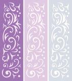 3 dekorativa bakgrunder Royaltyfri Fotografi
