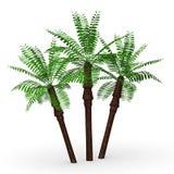 3 desert palms. 3d render of 3 desert palms Royalty Free Stock Photography