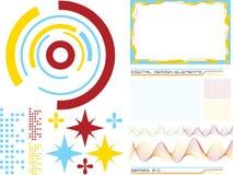 3 designelement Arkivbild