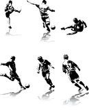 3 diagram fotboll Arkivfoton
