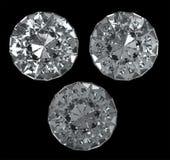 3 Diamanten mit Ausschnittspfad Stockbild